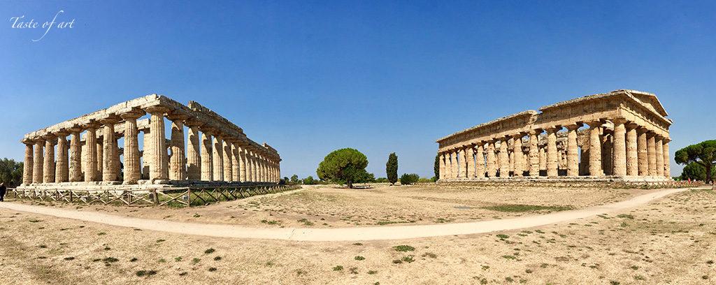 Taste of art - Paestum tempio Nettuno e basilca