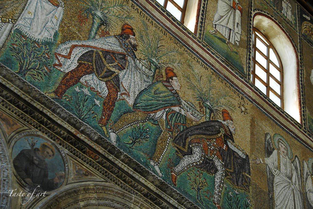 Taste of art - Sant'Apollinare Nuovo interno mosaici