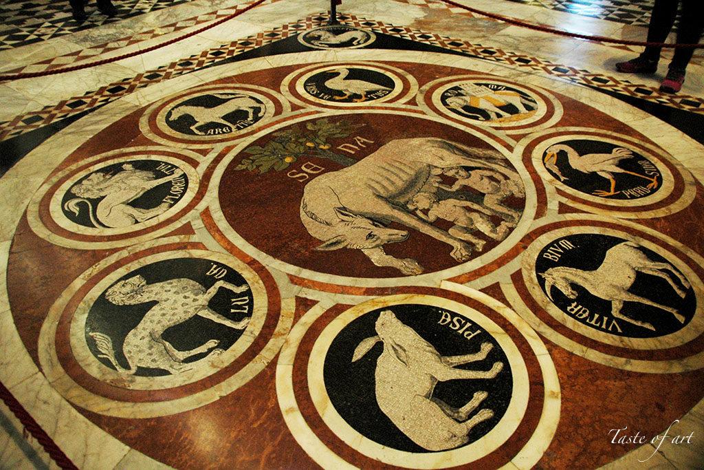Taste of art - Siena Cattedrale pavimento